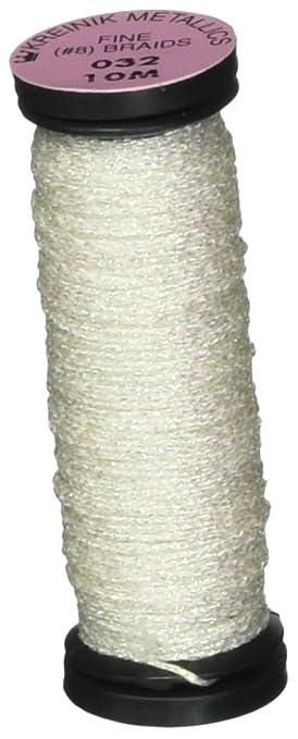 12 Yds. Silver 001 to Laser Lime 015L Kreinik VERY FINE #4 BRAID 11 M
