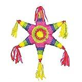 UNIQUE PARTY Mexican Rainbow Star Design Pinata (One Size) (Multicolored)