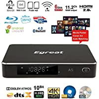 Egreat A5 4K HDR Ultra HD Streaming Blu-ray HDD Media Player Android TV Box With Wi-Fi