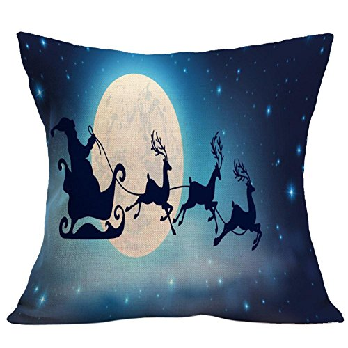 Gotd Home Decoration Christmas Pillow Cushion Cover Square Decorative Throw Pillow Cover Colored Pillowcases Cushion Christmas Gifts Ornaments Dector (02)