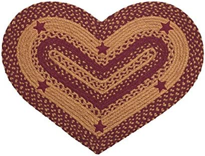 IHF Home Decor Star Wine Heart Rug