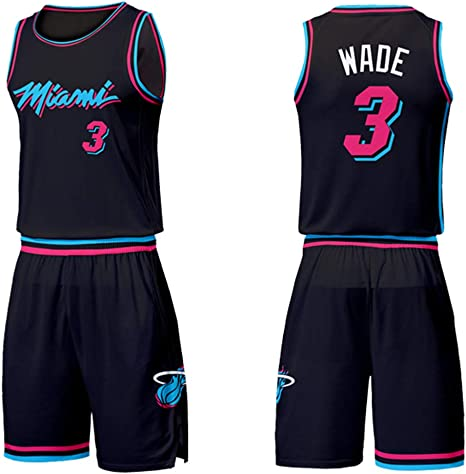 Maglie Da Basket Da Uomo Miami Heat 3 Dwyane Wade City Edition Maglia Da Basket Swingman Jersey Senza Maniche Sport Pantaloncini Set Di Gilet Amazon It Sport E Tempo Libero