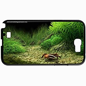 Personalized Protective Hardshell Back Hardcover For Samsung Note 2, Dream Aquarium Screensaver The Crab Design In Black Case Color