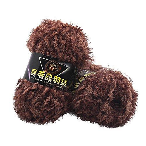 Fur Yarn Super Soft Fluffy Plush Solid Colors