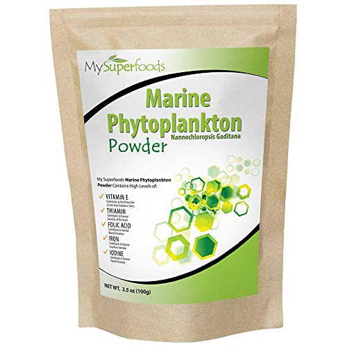 Marine Phytoplankton Powder (100g/3.5 oz) | MySuperfoods | Purest Food on Earth | Cultivated from The Deep Sea | Rich in Micronutrients | Add to Juices, Smoothies, Shakes