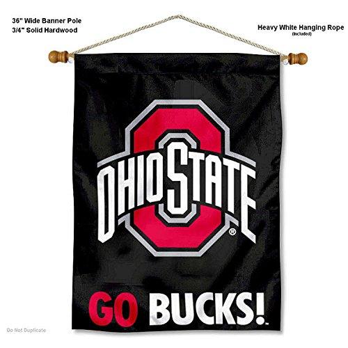 - Ohio State Buckeyes Go Bucks Wall Banner