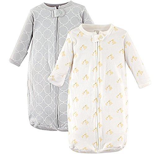 Hudson Baby Baby Long Sleeve Cotton Safe Wearable Sleeping Bag, Little Ducks 2 Pack, One Size (Sleeping Duck)