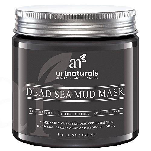 Art Naturals® Totes Meer Salz Schlamm Maske 250 ml, 100% Naturreine Tiefenreinigung für die Haut | gegen Akne | Hilft Poren & Falten zu Reduzieren | Ultimative Wellness Qualität | Angereichert mit Mineralien | Frei von chemischen Zusätzen