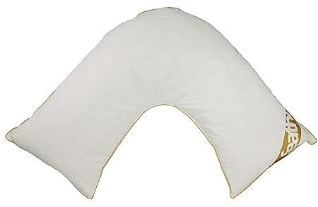 100/% Cotton V Pillow Duck Feather /& Down Neck//Orthopedic//Nursing//Maternity