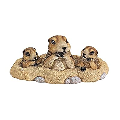 Design Toscano Burrowing Buddies Garden Gophers Statue