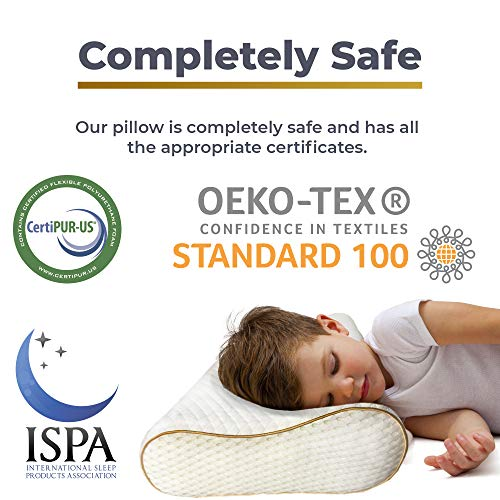 Memory Foam Pillow, Neck Pillow - ROYAL THERAPY Bamboo Adjustable Side Sleeper Pillow for Neck & Shoulder, Support for Back, Stomach, Side Sleepers, Orthopedic Contour Pillow, CertiPUR-US certified by Royal Therapy (Image #5)