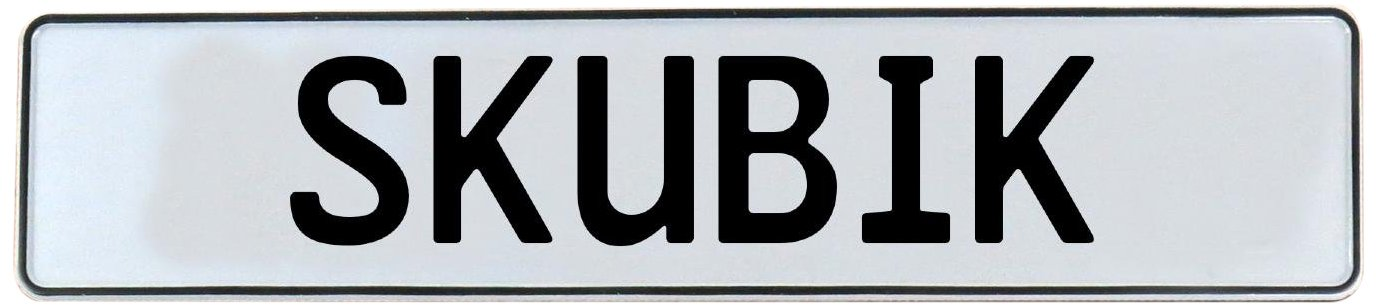 Vintage Parts 752857 White Stamped Aluminum Street Sign Mancave Wall Art Skubik