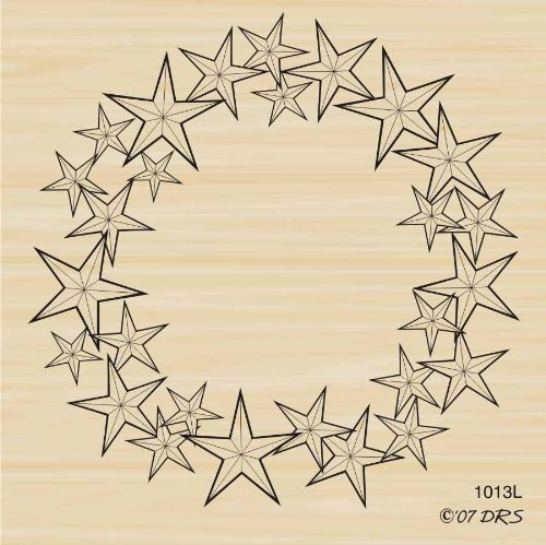 Star Wreath Rubber Stamp By DRS Designs ()