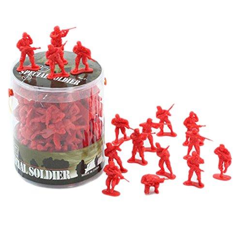 100 Pcs Toy Soldats Cadeaux / Voitures / Camions / Tracteurs / Toy Guns Models -Rouge soldats 1:32