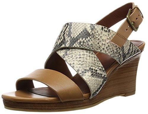 Cole Haan Frauen Platform Sandalen Roccia Snake Print/Camello Leather