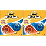 BIC Wite-Out WVjOJf Brand EZ Correct Correction Tape, 2 Count (2 Pack)