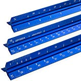 Offidea Architectural Scale Ruler for Blueprints - Aluminum Architect Scales, 12 Inch (Imperial)