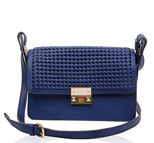 160132 Shoulder Celeb Women's Cross Bag Blue Messenger Handbags Ladies Body Bags Oxford Style IwvxIAr