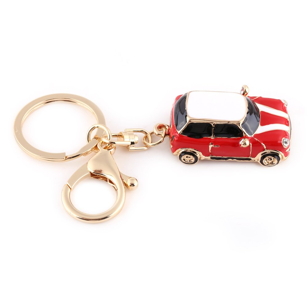 Walfront Zinc Alloy Car Keychain, Mini Car Key Rings for Men, Women, Car Decorations, Perfect Christmas Gifts Perfect Christmas Gifts (Blue)