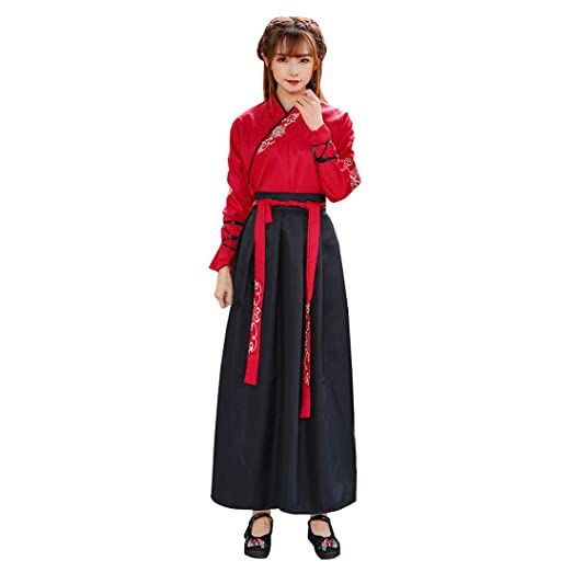 Amazon.com  Ez-sofei Ancient Chinese Han Dynasty Traditional Hanfu Cosplay  Costume for Couples  Clothing 8204ef20d