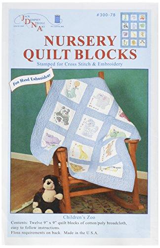 Jack Dempsey 300 78 Children's Zoo Nursery Quilt Blocks