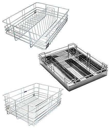 taj steel gold modular kitchen basket amazon in home kitchen rh amazon in stainless steel basket for modular kitchen