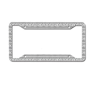 Mrsangelalouise License Plate Frame Car tag Aluminum Car Licence Plate Cover for US Standard