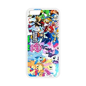 MIS HÉROES PEQUEÑO PONY SONIC 001 para funda iPhone 6 4.7 pulgadas funda del teléfono celular de cubierta blanca