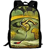 Markui Adult Travel Hiking Laptop Backpack Artwork Drawing School Multipurpose Durable Daypacks Zipper Bags Fashion