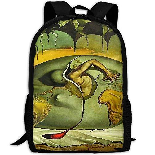 Markui Adult Travel Hiking Laptop Backpack Artwork Drawing School Multipurpose Durable Daypacks Zipper Bags Fashion by Markui