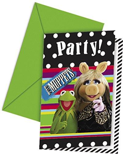 amscan - Cubertería para Fiestas The Muppets, Barrio Sésamo (80511)