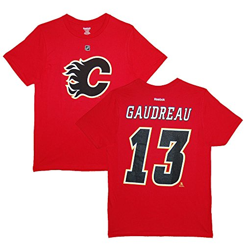 Johnny Gaudreau Calgary Flames Jersey Name and Number T-Shirt Small
