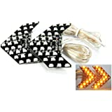LEDIN Amber 27 SMD LED Arrow Panel Sequential Flash Car Side Mirror Turn Signal Light