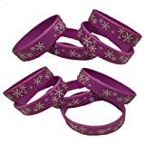 12 Purple Snowflakes YOUTH Rubber Wristbands-Party Favors