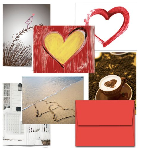Note Card Cafe Valentines Day and Anniversary Greeting Cards with Envelopes | 72 Pack | Be My Valentine Designs | Blank Inside, Glossy Finish | Assorted Set | Show Love to Significant Other, Friends