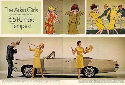 The Arkin Girls go into Hot Canary for Pontiac Tempest Convertible ad - Convertible Tempest Pontiac
