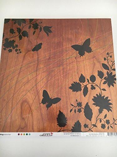 Just Chillin Girl (Making Memories Wood Butterflies Just Chillin' Girl 12x12 Cardstock Paper 25 sheets)