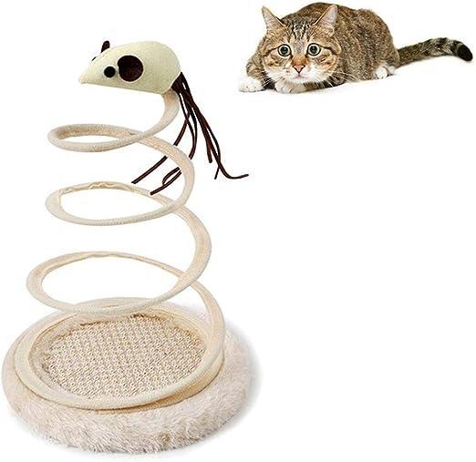AOLVO Juguete para Gatos Caza de Ratones, Juguete Interactivo con Resorte en Espiral para Gatos, Juguete para atrapar Gatos, Bola de ratón, para Jugar en Interiores y Exteriores: Amazon.es: Productos para mascotas
