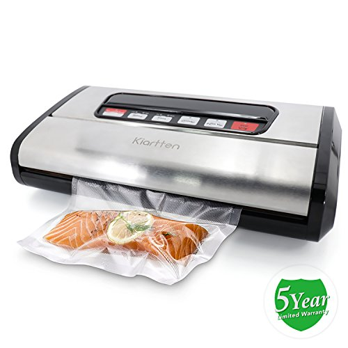 Kiartten Vacuum Sealer, A Fresh Food Locker for Your Kitchen. Keeps Food Fresh Up To 5X Longer. (Stainless Steel) by Spreaze (Image #9)'
