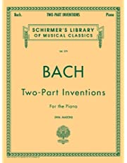 15 Two-Part Inventions: 15 Two-Part Inventions (Mason) Schirmer Library of Classics Volum