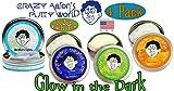 Crazy Aaron's Thinking Putty Glow in the Dark Krypton, Amber, Aura & Northern Lights Gift Set Bundle - 4 Pack