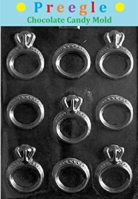 PLP-W051 Engagement/Wedding Rings Chocolate Candy Mold