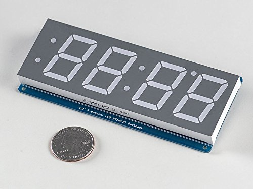 Adafruit 1.2'' 4-Digit 7-Segment Display w/I2C Backpack - Green [ADA1268]