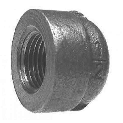 1/2 Black Extra Heavy Steel Cap – Schedule 80 – 300 psi- Pack of 5