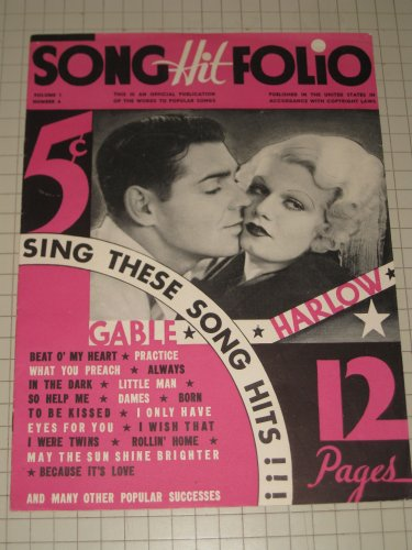 (1934 Song Hit Folio: Clark Gable & Jean Harlow Cover)