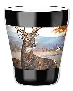 Mugzie vaso bebida taza con cubierta extraíble de neopreno aislante–blanco cola ciervos, plástico, Multicolor, 12 ounce