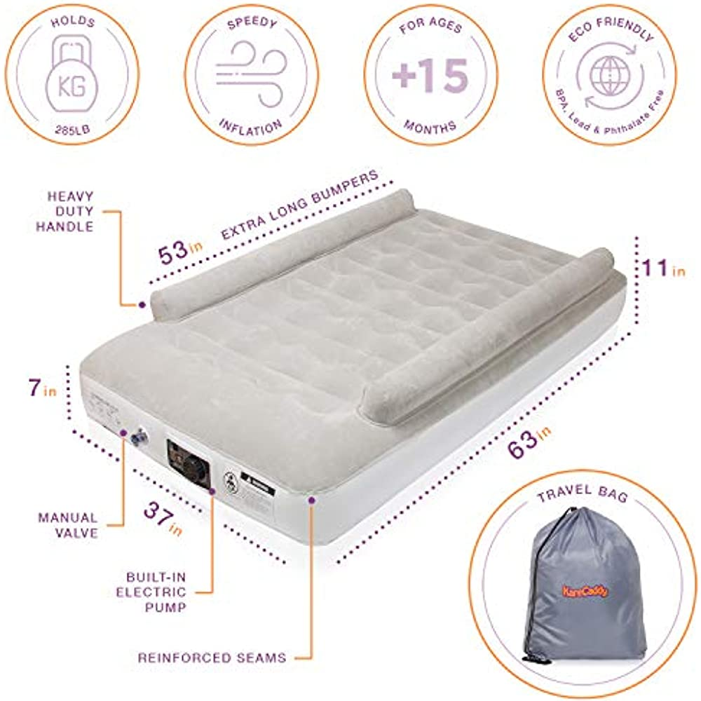 Karecaddy Toddler Air Mattresses With Built In Electric Pump Kids