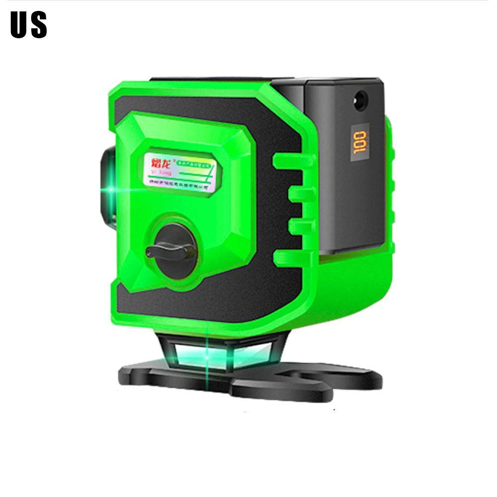 cobud Leveling Laser Level 3x360 Cross Line Three Plane Elevation, Aiming Laser Level Tool, Two 360° Vertical 360° Horizontal Line, Magnetic Swinging Bottom Plate 12 Lines With Remote Control charming by cobud