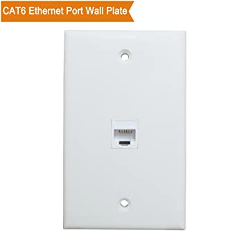 1 port ethernet wall plate esylink cat6 ethernet cable wall plate female to female