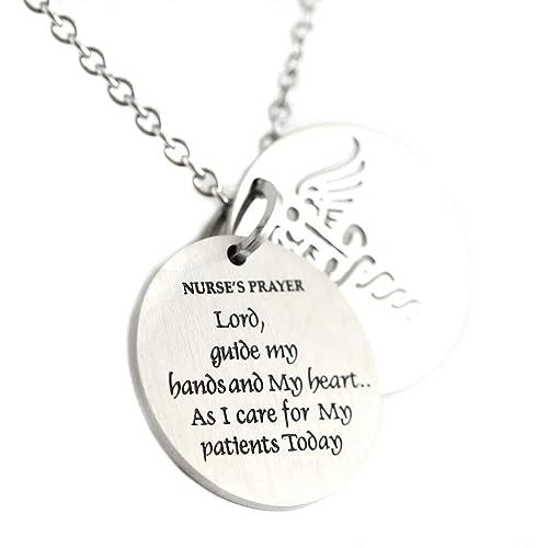 Amazon.com: Enfermeras de dos piezas Oración Collar con ...